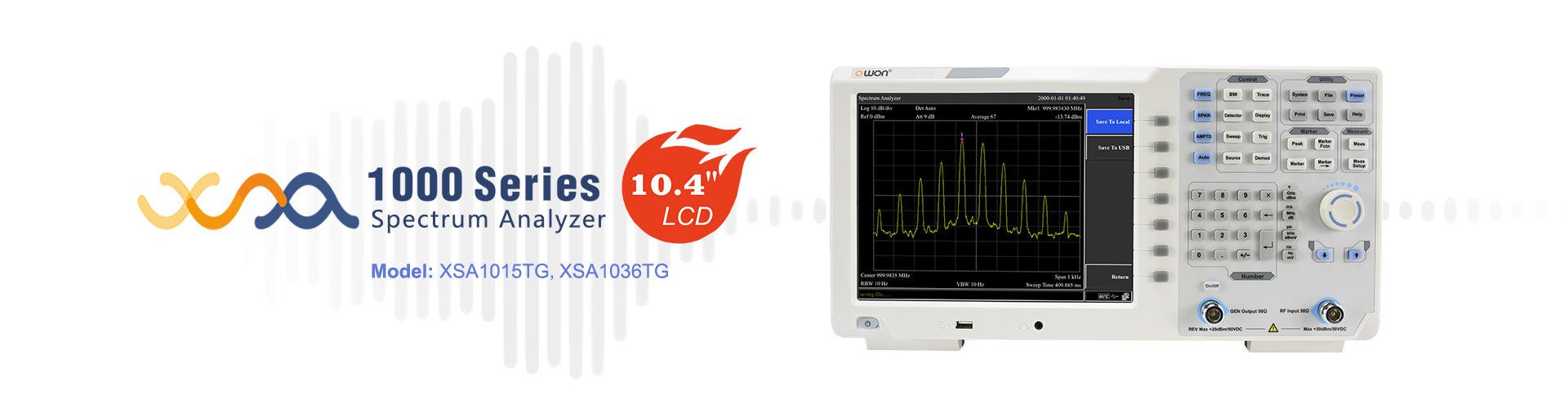 OWON XSA1000 Series Spectrum Analyzer with 10.4 inches display